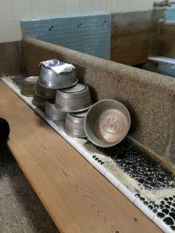 アルミ製の懐かしい洗い桶